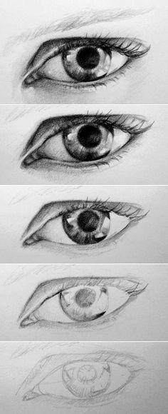 Как рисовать глаз - 40 удивительные уроки и примеры - скучно искусства