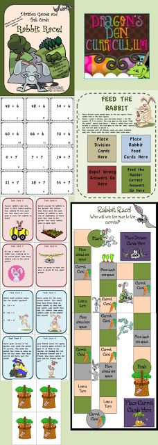 Help your students practice those division facts the fun way with this fun resource…two games, plus task cards!! $