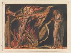 """Jerusalem, Plate 26, """"Such Visions Have...."""" Print made by William Blake, 1804 to 1820."""