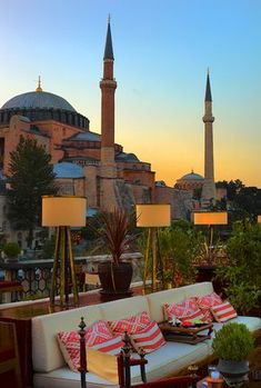 Travel to #Istanbul and admire the Hagia Sophia. (bet you this was taken from the Four Seasons' rooftop bar!)