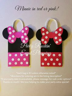 Mickey Minnie & Friends Party Favor Gift Bags by PartyRockinEvents