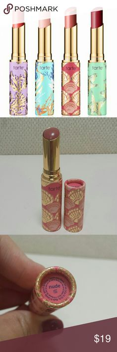 tarte Quench Lip Rescue in Nude This is new and never tested. Cap was only removed for picture.   No trades.  Please submit any offers via the offer option.  Swatch photo was found on temptalia.com Sephora Makeup Lip Balm & Gloss