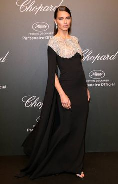 """Adriana Lima attends the Chopard """"SPACE Party"""" hosted by Chopard's copresident Caroline Scheufele and Rihanna at Port Canto on May 19 in Cannes France"""