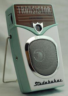 The Studebaker radio - retro Radio Vintage, Poste Radio, Retro Radios, Transistor Radio, Record Players, Phonograph, The Good Old Days, Kitsch, Mid-century Modern