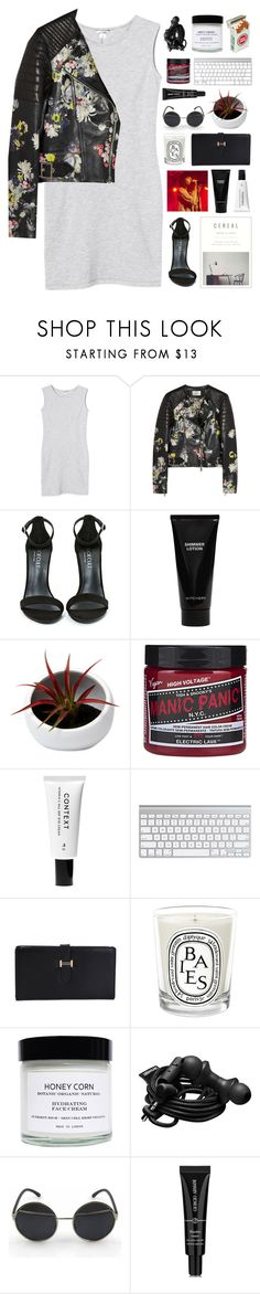 """Okay I was gone for a minute but I'm back now"" by justonegirlwithdreams ❤ liked on Polyvore featuring Monki, Erdem, Shoe Cult, Witchery, Context, Diptyque, Honey Corn, Urbanears, Giorgio Armani and 267"