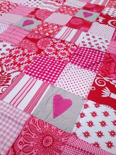 Have a heart baby girl crib quilt by babyburritoquilts on Etsy, $125.00