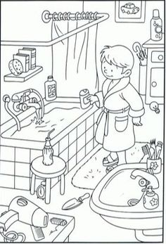 Drawings to color with children. 10 sheets to make them fall in love - Decor Scan : The new way of thinking about your home and interior design Coloring Book Pages, Coloring Pages For Kids, Coloring Sheets, Adult Coloring, Kindergarten Activities, Activities For Kids, Hidden Pictures, English Lessons, Printable Coloring