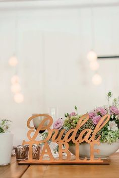 Copper Bridal Table