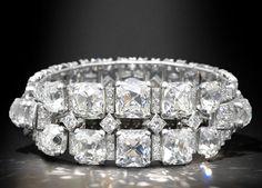 An art deco diamond bracelet, by Cartier, circa 1935, signed Cartier London