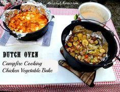 Dutch Oven Chicken Veggie Bake www.MelissaKNorris.com