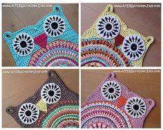 Crochet pattern OWL RUG by ATERGcrochet XL by ATERGcrochet