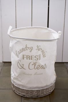 Rivièra Maison Fresh & Clean Laundry Basket