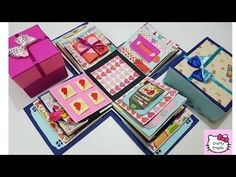DIY Crafts  - How to make an Exploding Box Card - Explosion paper gift box - Scrapbooking Tutorial - YouTube
