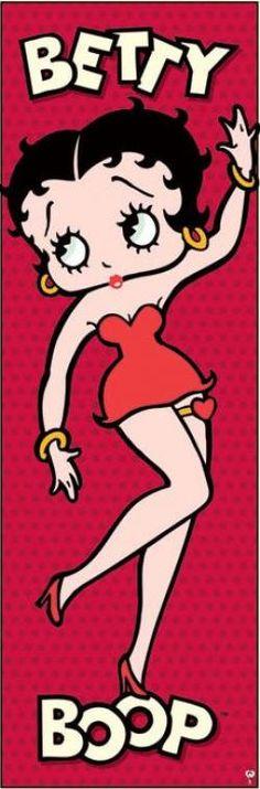 Betty Boop Door Poster (Pink)