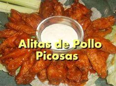 Alitas de pollo picantes caseras y paso a paso / Hot buffalo wings, homemade and step by step - YouTube