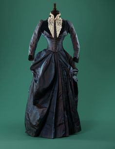 Ephemeral Elegance | Iridescent Silk Taffeta Afternoon Dress, ca. 1887...