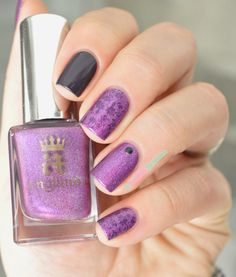 A England 'Crown of Thistles' stamped with A England 'Elaine' with a MoYou London Pro collection plate ~ by La Paillette Frondeuse