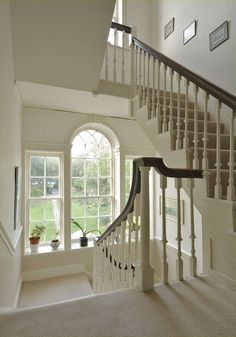 Grand stair to a Georgian house #helyerdavies