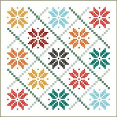 Here are 30 free patterns for festive holiday quilts! To go to a pattern : Scroll down the page until you see the quilt you like, then cli. Holiday Quilt Patterns, Star Quilt Patterns, Cross Stitch Patterns, Scandinavian Quilts, Scandinavian Christmas, Modern Christmas, Christmas Christmas, Snowflake Quilt, Snowflakes