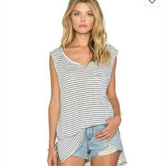FLASH SALEFree People Weekend Warrior Top S Free People Weekend Warrior Striped Top/Tank. Size small. New with a tag. Runs big so should fit size M as well. Free People Tops