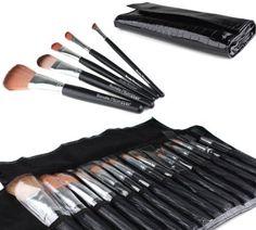 Amazon.com: Bundle Monster 15pc Studio Pro Makeup Make Up Cosmetic Brush Set Kit w/ Black Faux Crocodile Case - For Eye Shadow, Blush, Eyeliner, Etc.: Beauty $18.75