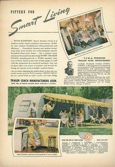 Vintage 1947 TCMA Tailer Print Advertisement  Trailer Coach