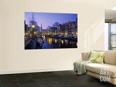 Prinsengracht, Amsterdam, Holland Wall Mural by Jon Arnold at Art.com
