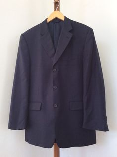 Clothing, Shoes, Accessories Reasonable Worthington Womens Dark Navy 100% Polyester Zipper Front Blazer Jacket Size 8p Suits & Suit Separates