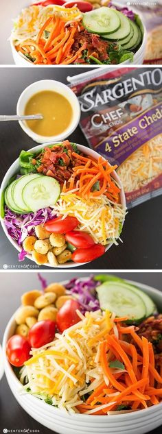 This ULTIMATE SUMMER SALAD is packed full of healthy goodness with lots of vegetables and a tasty homemade honey mustard salad dressing.