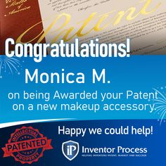 Congratulations Monika on being awarded a patent on a new cosmetics accessory that allows u to protectively store, easily transport & apply makeup anywhere…even while on the go. The Versa Vanity offers #Convenience, #Portability & #Style all-in-one! We're happy to have helped! #makeup #inventorprocess #cosmetics #patent #models #happyclients #travel #bathroom #humidty #winning #patents #inventions #vogue #makeupproducts #lasvegas #happy #inventormade #women #successfulwomen #womeninventors New Cosmetics, Happy We, Inventors, Successful Women, How To Apply Makeup, Makeup Yourself, Congratulations, Marketing, Motivation