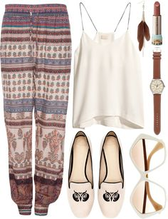 boho outfits summer, printed pants, fashion ideas, beach outfits, winter outfits