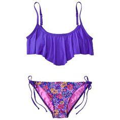 Target : Juniors 2- Piece Handkerchief Bandeau Swimsuit : Image Zoom