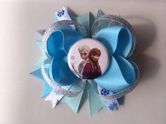 Disney Frozen Elsa and Anna Hairbow by MichelesBowtique on Etsy, $7.00