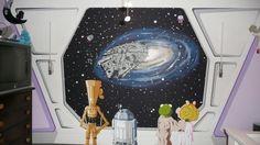 Star Wars Muppets nursery mural