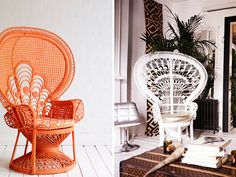 What a genius DIY to breathe new life into tired wicker: matte spray paint.