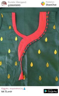 Best 11 Neck design – Page 426082814749629746 – SkillOfKing. Blouse Back Neck Designs, Chudithar Neck Designs, Neck Designs For Suits, Sleeves Designs For Dresses, Neckline Designs, Blouse Designs Silk, Salwar Designs, Punjabi Suit Neck Designs, Kurti Sleeves Design