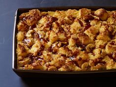 Salted Caramel-Banana Bread Pudding recipe from Food Network Kitchen via Food Network