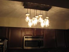 Pottery Barn Inspired Mason Jar Chandelier - Lauren McBride
