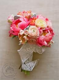 coral peonie wedding bouquets - Google Search