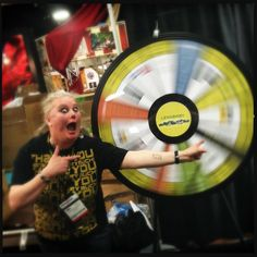 Kirsten Hunter, Director of Customer Happiness, for Lensbaby looks pretty excited about the Prize Wheel. They have the Wheel spinning this week for WPPI Online's Wedding and Portrait Photography Conference and Expo. The event runs through Thursday, March 14, at the MGM Grand Las Vegas. Buy this Prize Wheel at https://PrizeWheel.com/products/floor-prize-wheels/big-40-prize-wheel/.