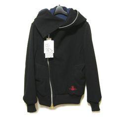 """【楽天市場】新品 Vivienne Westwood MAN アシンメトリーコート・ジャケット black asymmetry """"Big hood"""" coat (ヴィヴィアンウエストウッド マン メン ビビアン) ■税抜¥3000以上 日本全国【送料無料】■K:JIMU"""