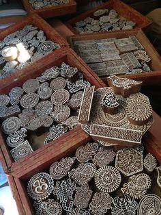 Wood blocks from india anahata katkin @Helen Priedols: