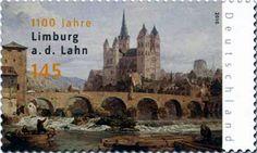 """Limburg an der Lahn"", G. German Stamps, World Best Photos, Stamp Collecting, Postage Stamps, Folk Art, Germany, Gallery, Painting, Bridges"