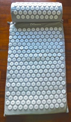Gray Mat Set - Neck and Back Pain Relief -Acupressure Mat with Pillow Set #Prosource