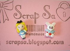 Alice in Wonderland & White Rabbit #polymer #clay.  Sara ScrapSa Creazioni