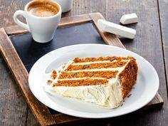 Slice of carrot cake on vintage slate chalk board background by Lisovskaya Natalia, via ShutterStock Lo Cal Desserts, Healthy Desserts, Food Cakes, Cake Recipes, Dessert Recipes, Cake Stock, Cupcake, Types Of Cakes, Cake Boss