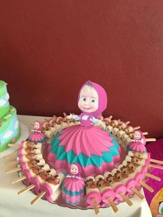 Jello Dessert Recipes, Jelly Desserts, Gelatin Recipes, Party Desserts, Sweet Desserts, 1st Birthday Party For Girls, Minnie Birthday, Gelatina Jello, Masha And The Bear