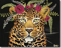 Spring Whitaker, Maya, leopard, jaguar, Skyline, print, printing, fine art, giclee