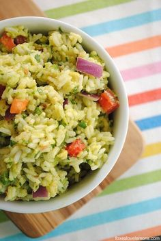 Can you say hello to this scrumptious Guacamole Rice?