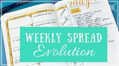 Weekly Spread Evolution + Giveaway Winner Announced!